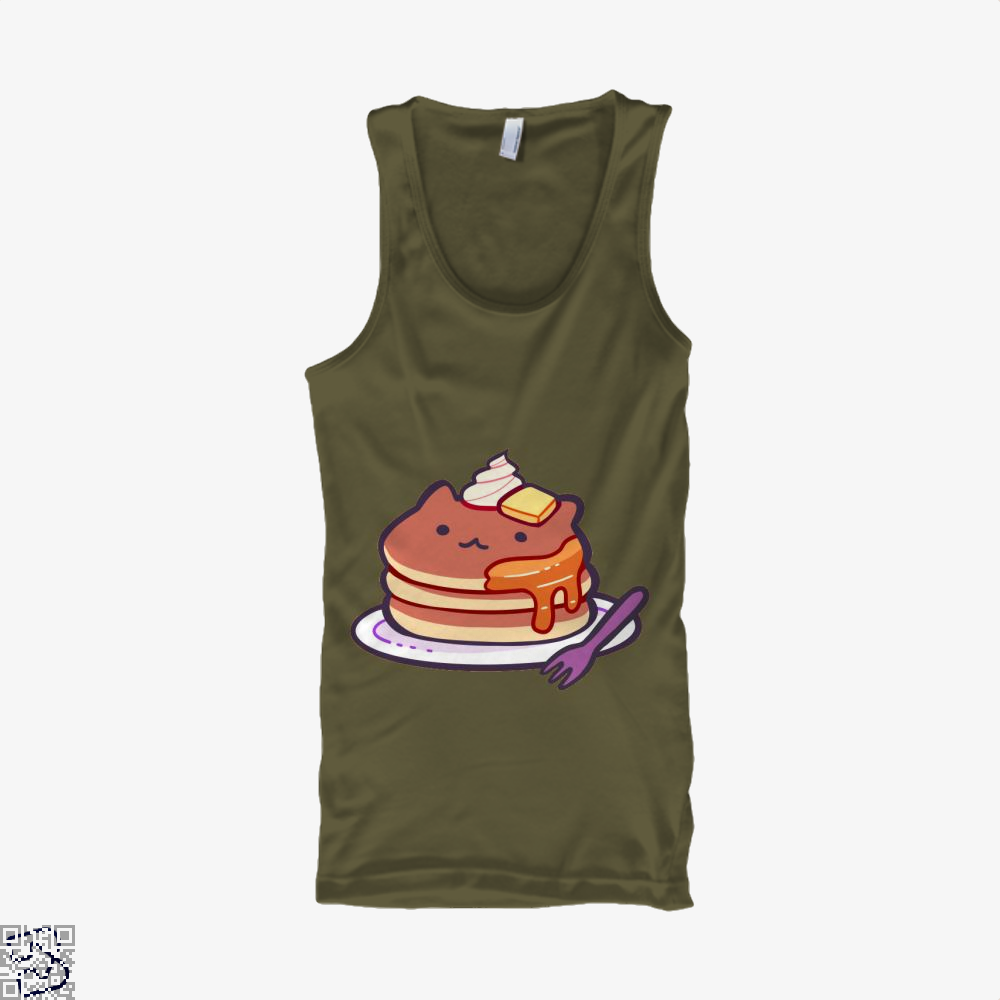 Cat Pancakes Waffle Tank Top - Men / Brown / Small - Productgenapi