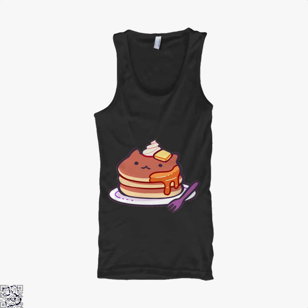 Cat Pancakes Waffle Tank Top - Women / Black / Small - Productgenapi