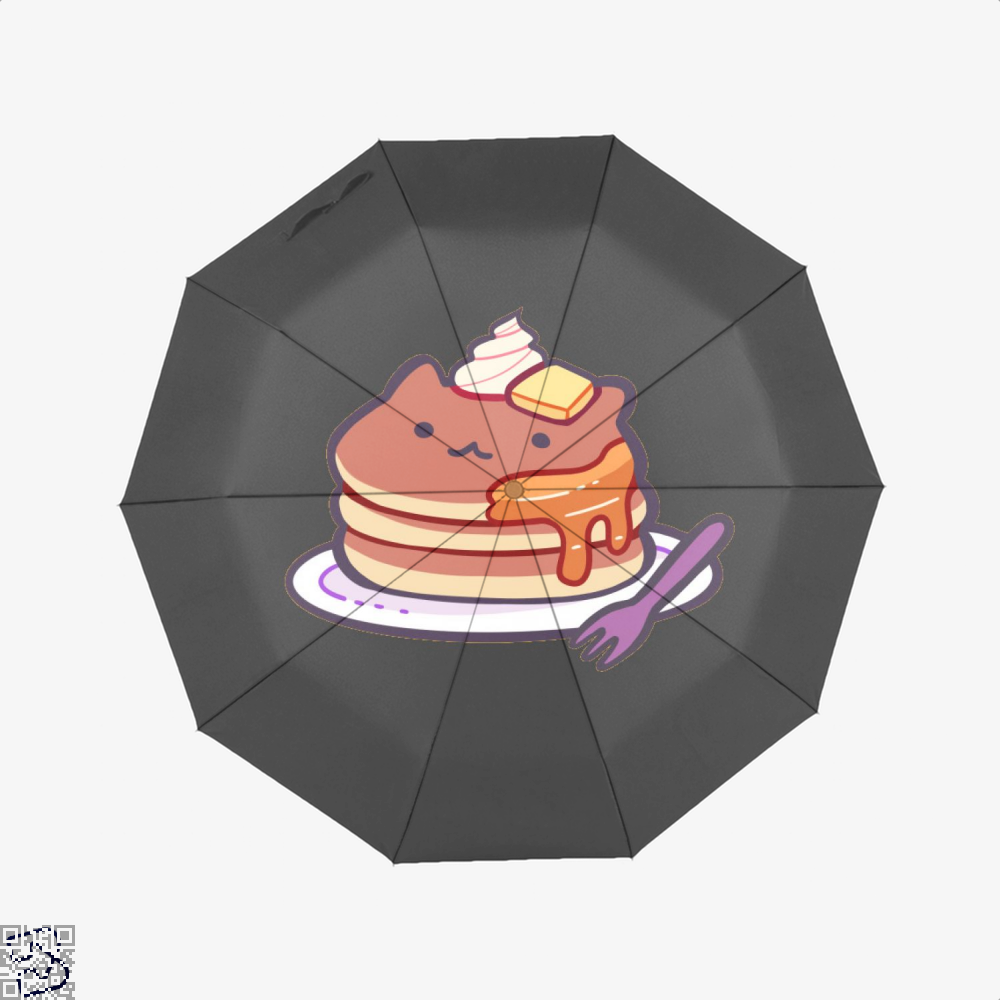 Cat Pancakes Waffle Umbrella - Black - Productgenapi