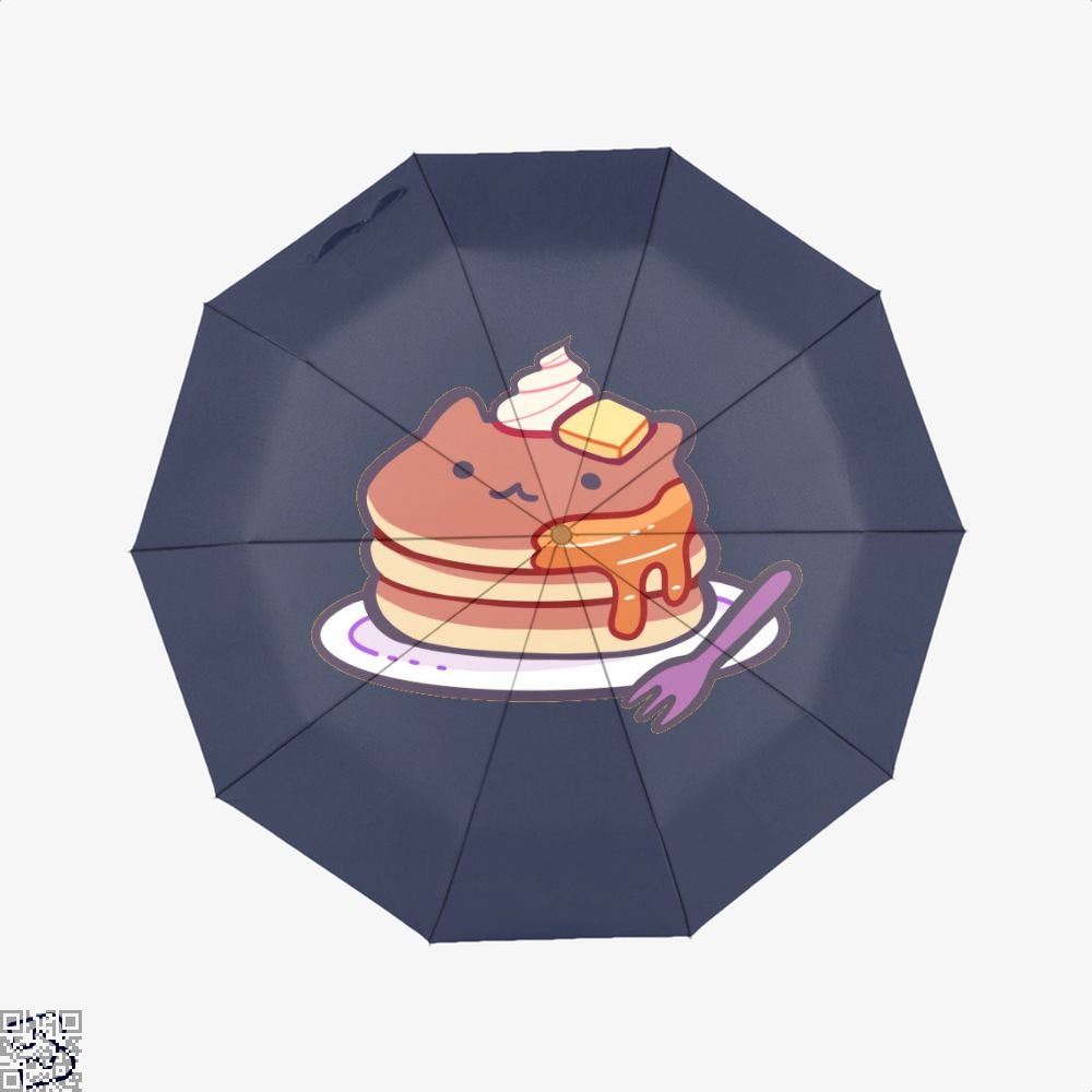 Cat Pancakes Waffle Umbrella - Blue - Productgenapi