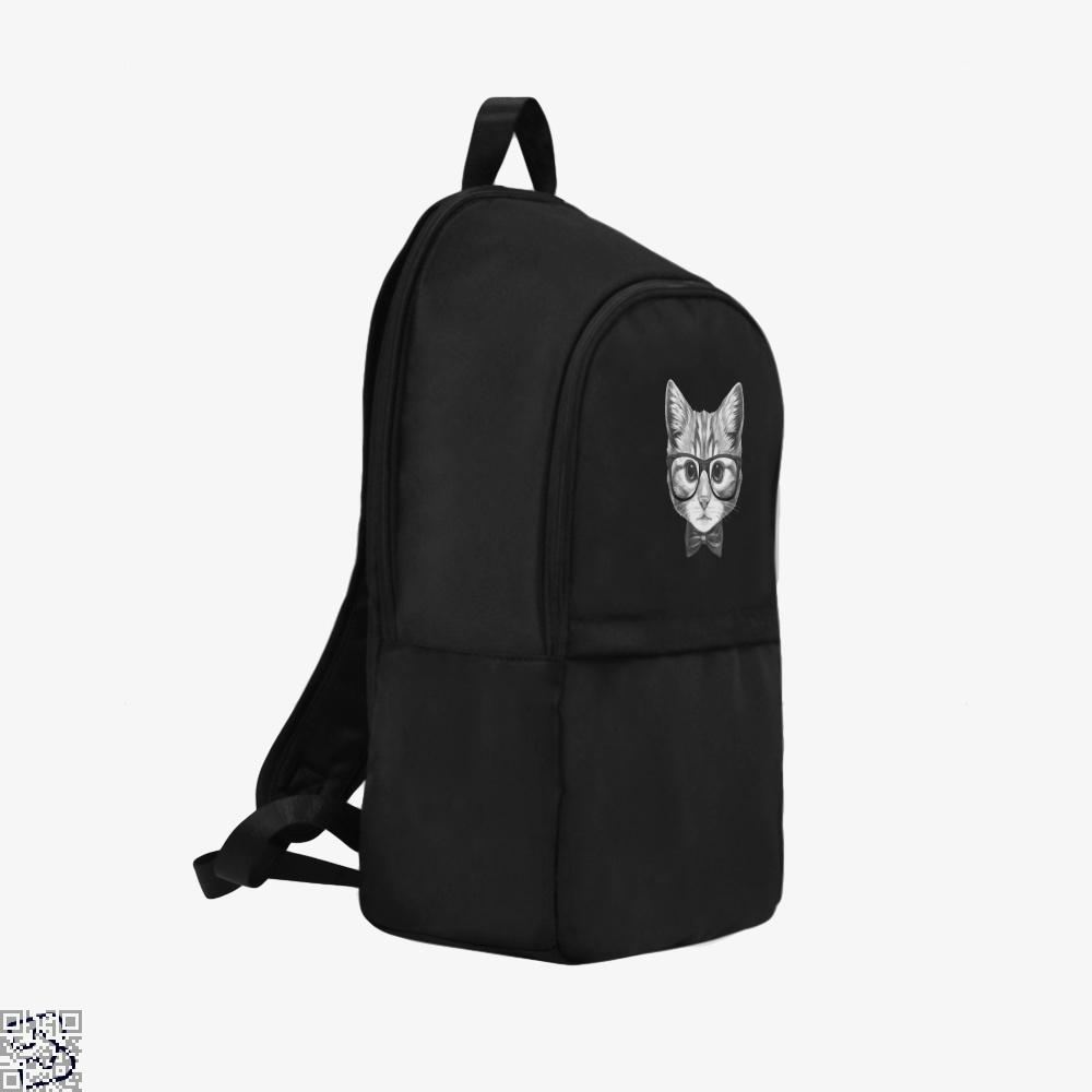 Cat With Glasses And Bow Tie Backpack - Productgenjpg