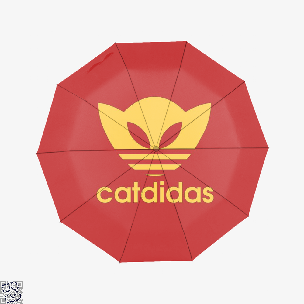 Catdidas Cat Umbrella - Red - Productgenjpg