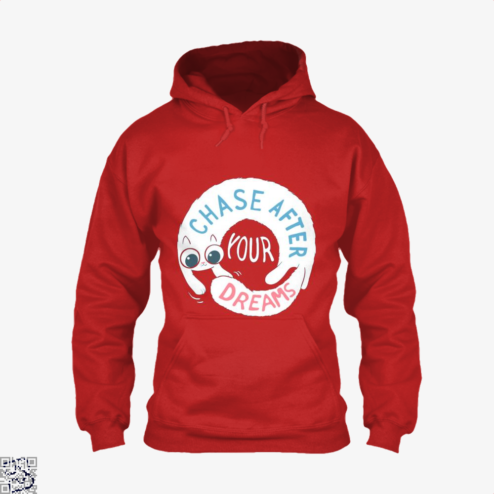 Chase After Your Dreams Cat Hoodie - Red / X-Small - Productgenjpg