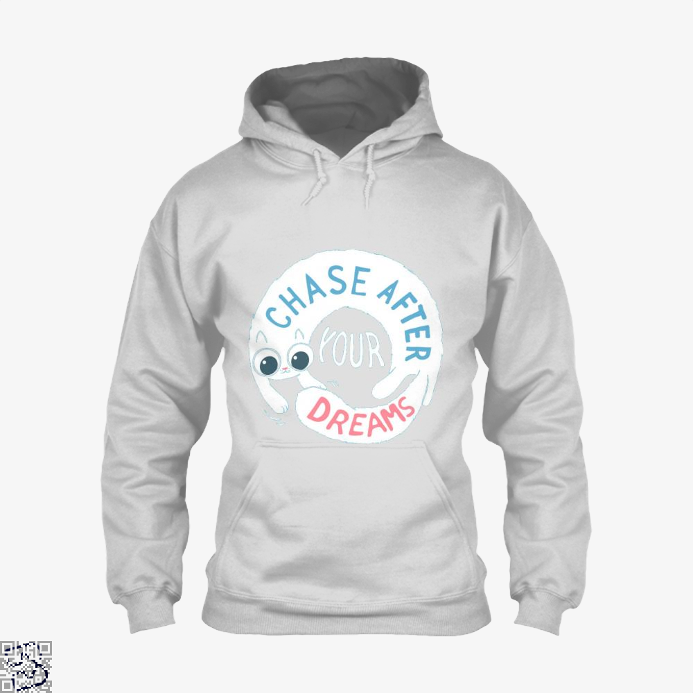 Chase After Your Dreams Cat Hoodie - White / X-Small - Productgenjpg