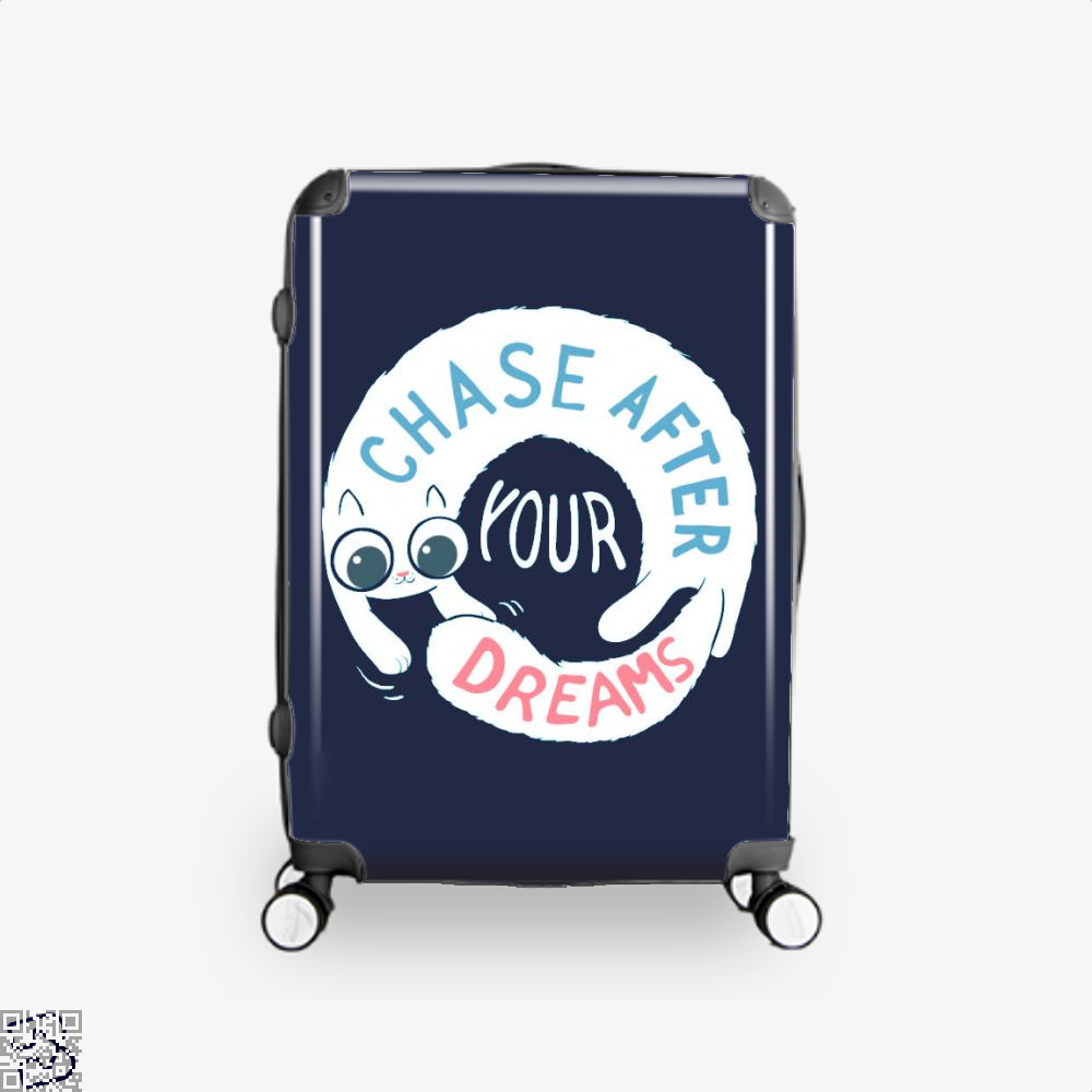 Chase After Your Dreams Cat Suitcase - Blue / 16 - Productgenjpg