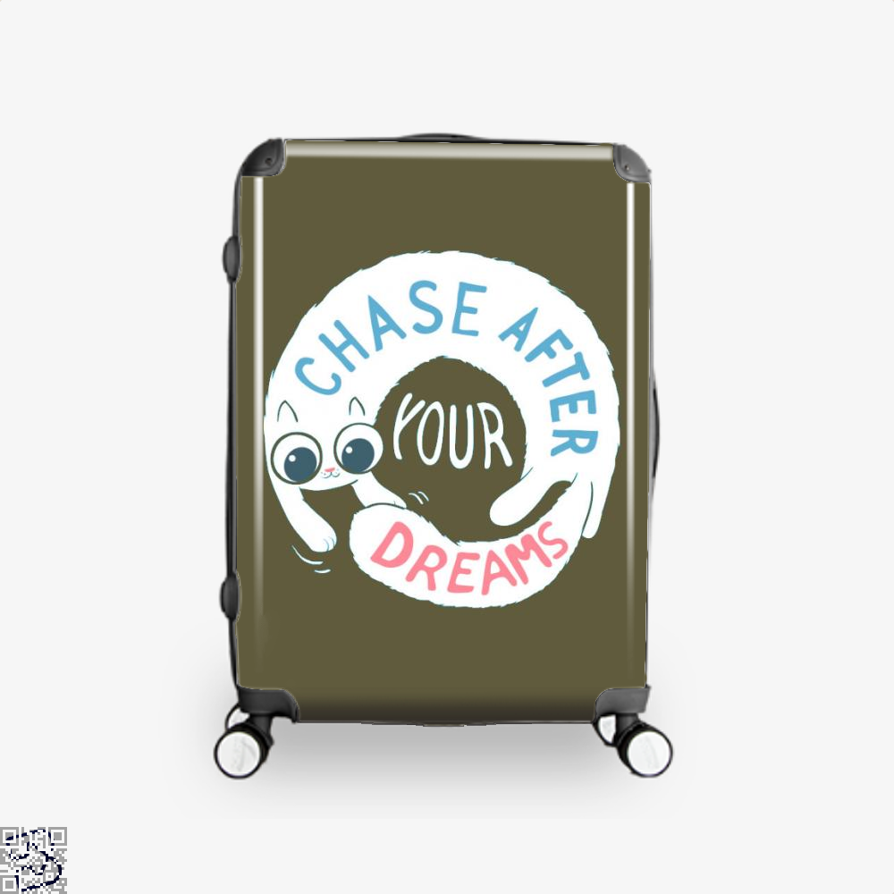 Chase After Your Dreams Cat Suitcase - Brown / 16 - Productgenjpg