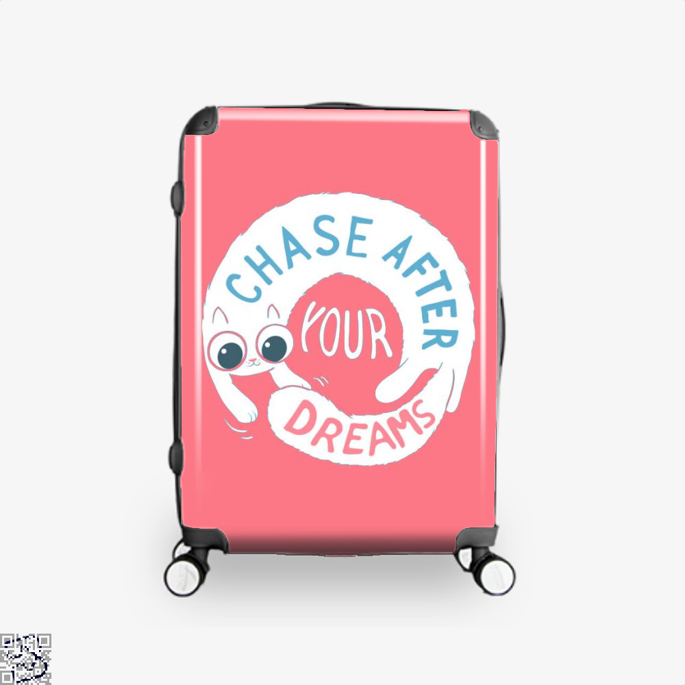 Chase After Your Dreams Cat Suitcase - Pink / 16 - Productgenjpg