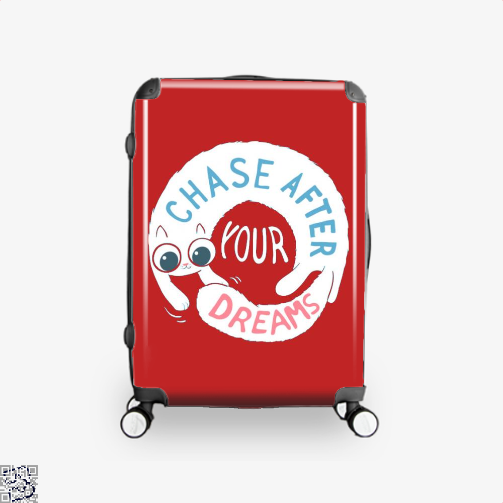 Chase After Your Dreams Cat Suitcase - Red / 16 - Productgenjpg