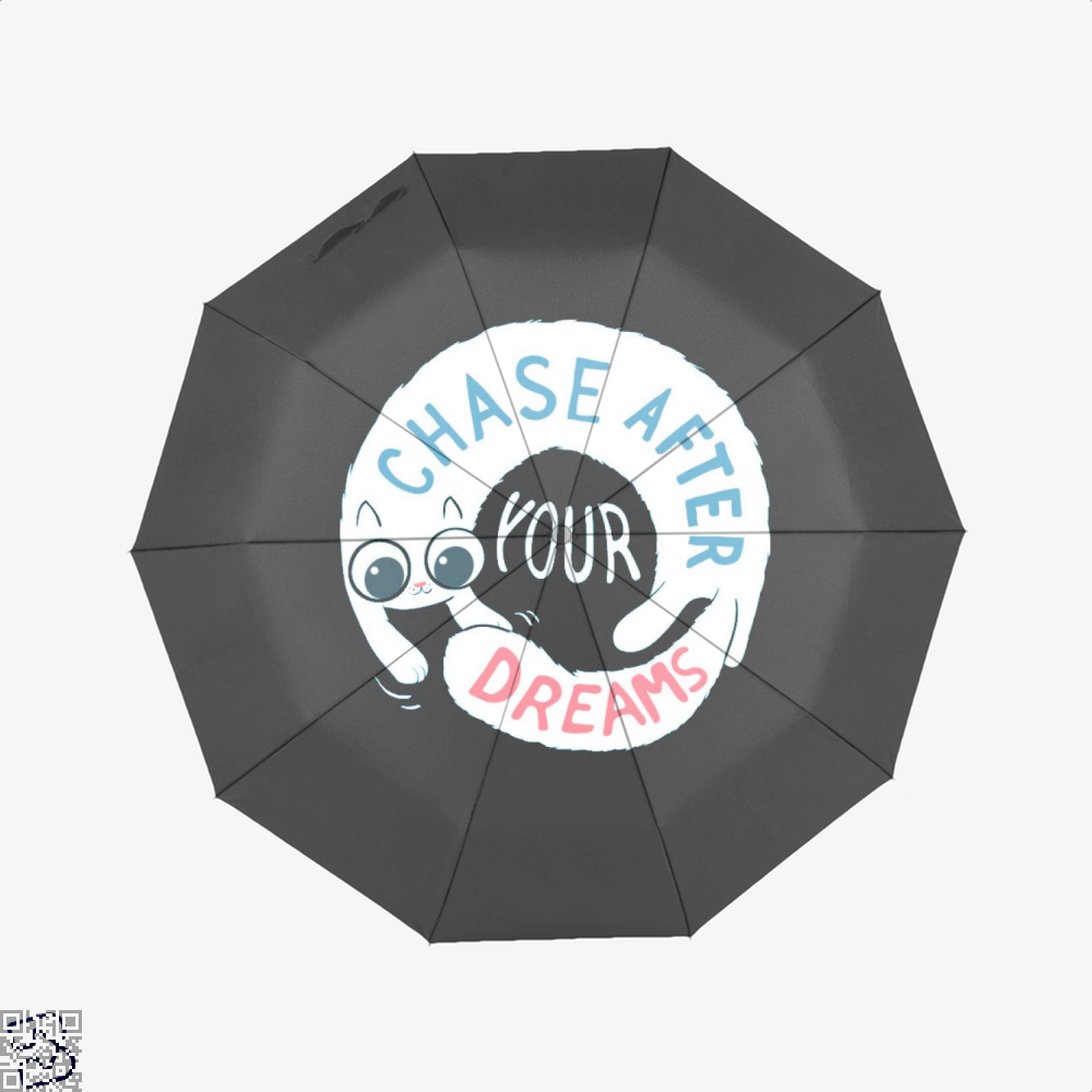 Chase After Your Dreams Cat Umbrella - Black - Productgenjpg