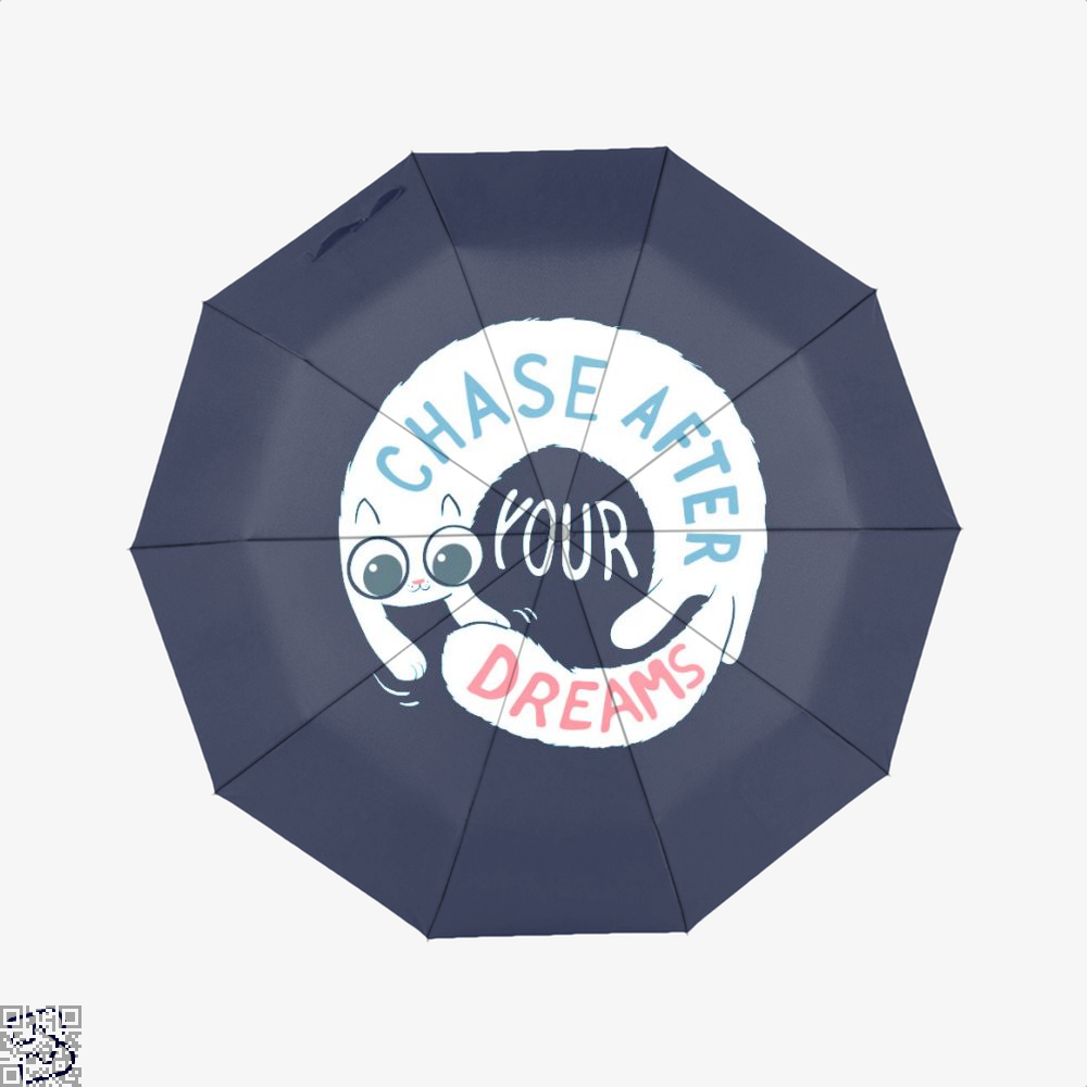 Chase After Your Dreams Cat Umbrella - Blue - Productgenjpg