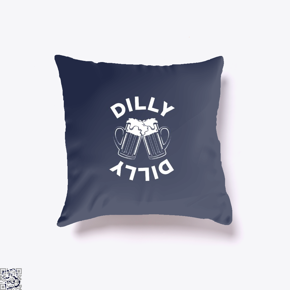 Cheers Dilly Dilly Dilly Dilly Throw Pillow Cover - Blue / 16 X 16 - Productgenapi