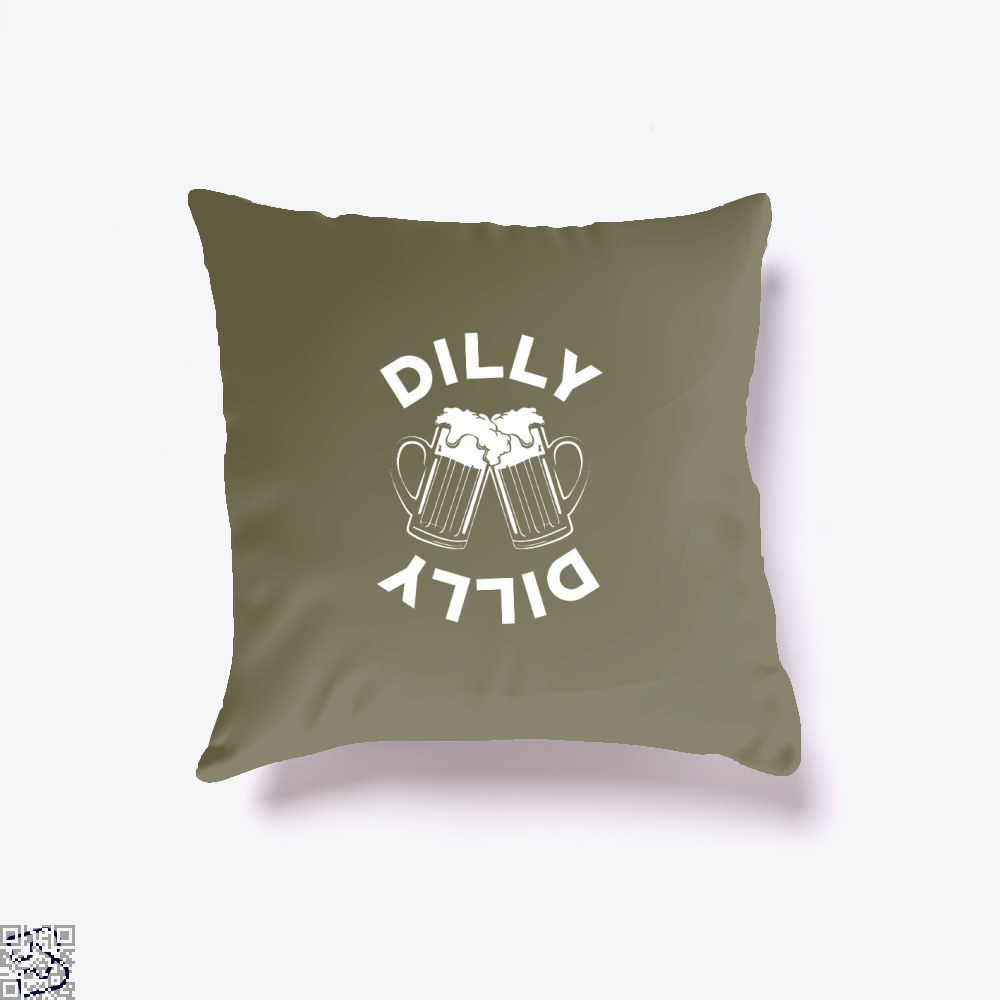 Cheers Dilly Dilly Dilly Dilly Throw Pillow Cover - Brown / 16 X 16 - Productgenapi