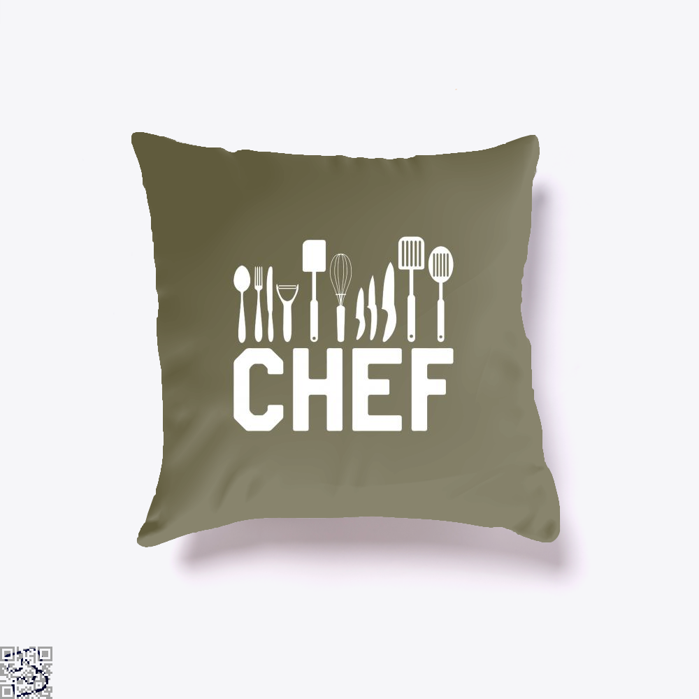Chef Tools Chefs Throw Pillow Cover - Brown / 16 X - Productgenapi