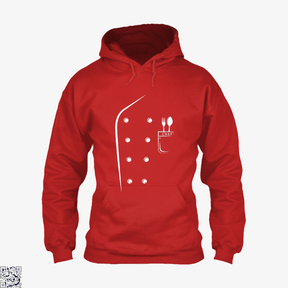 Chefs Jacket Funny Faux Uniform For Cooking Hoodie - Red / X-Small - Productgenapi