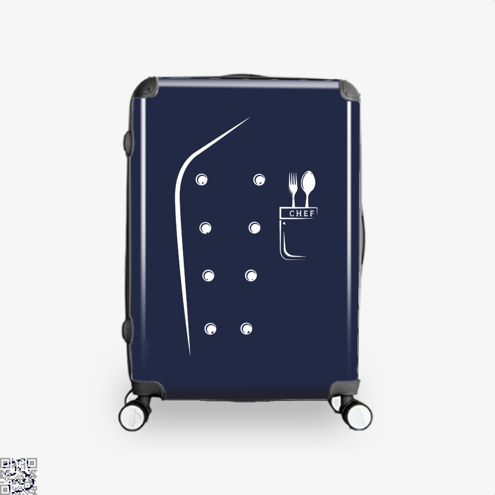 Chefs Jacket Funny Faux Uniform For Cooking Suitcase - Blue / 16 - Productgenapi