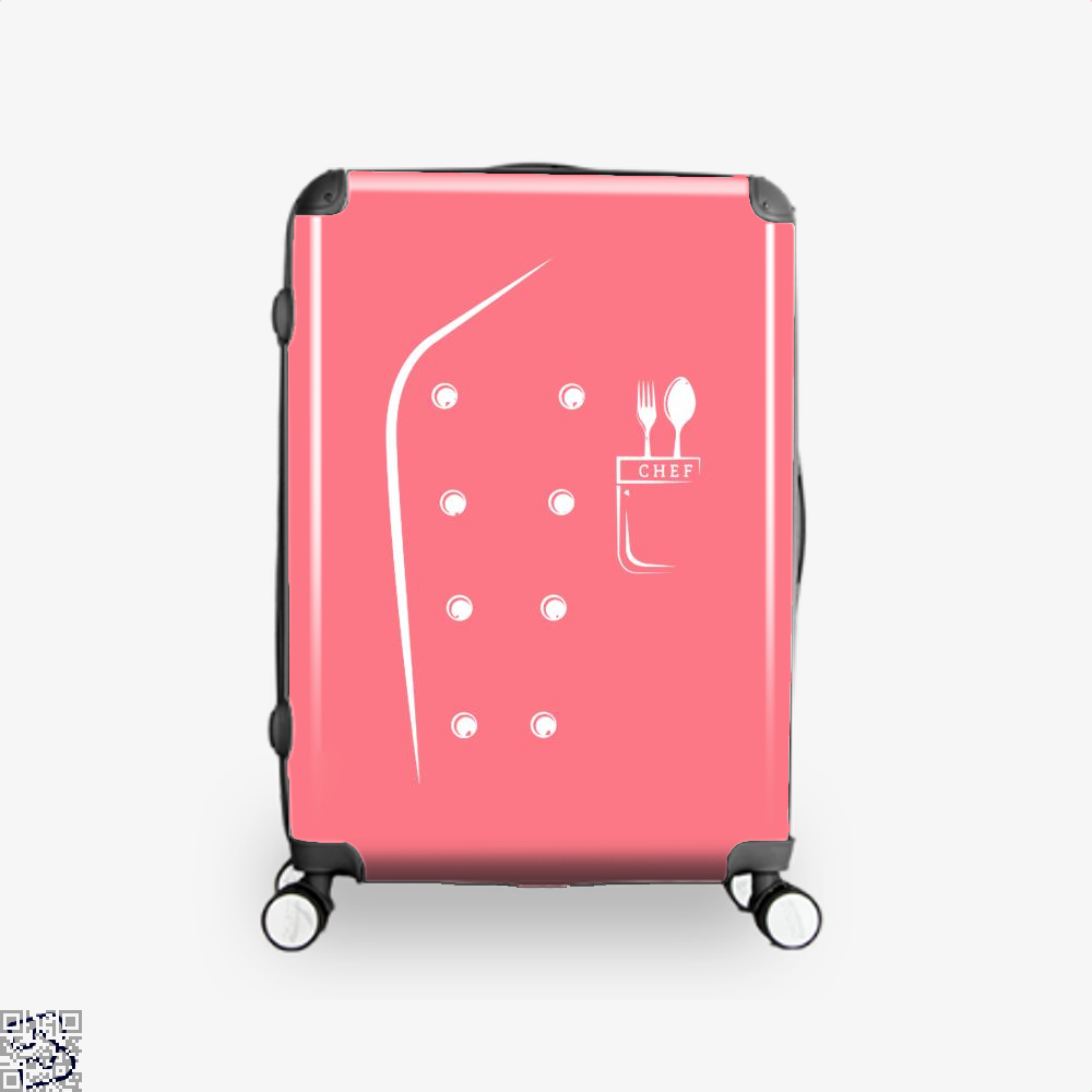 Chefs Jacket Funny Faux Uniform For Cooking Suitcase - Pink / 16 - Productgenapi