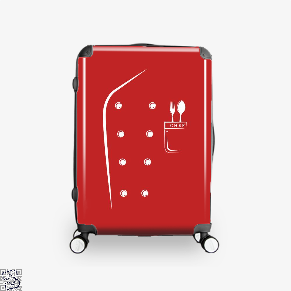 Chefs Jacket Funny Faux Uniform For Cooking Suitcase - Red / 16 - Productgenapi