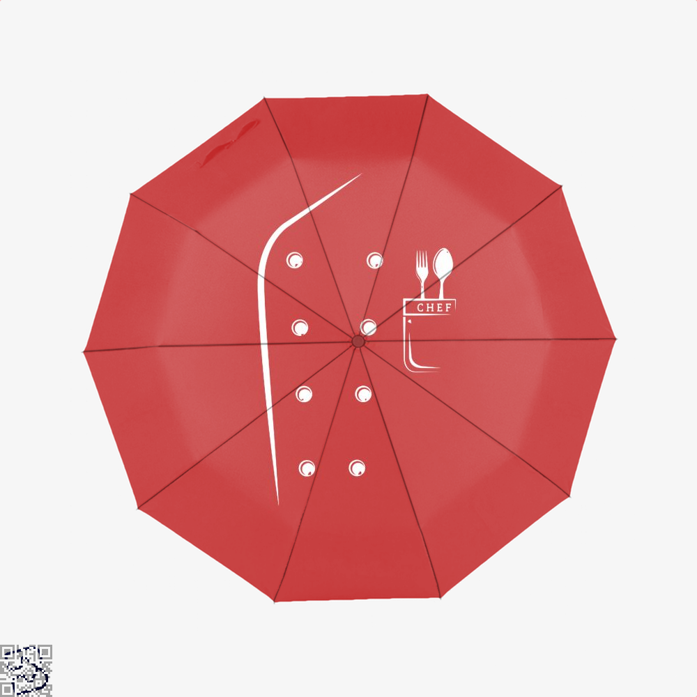 Chefs Jacket Funny Faux Uniform For Cooking Umbrella - Red - Productgenapi