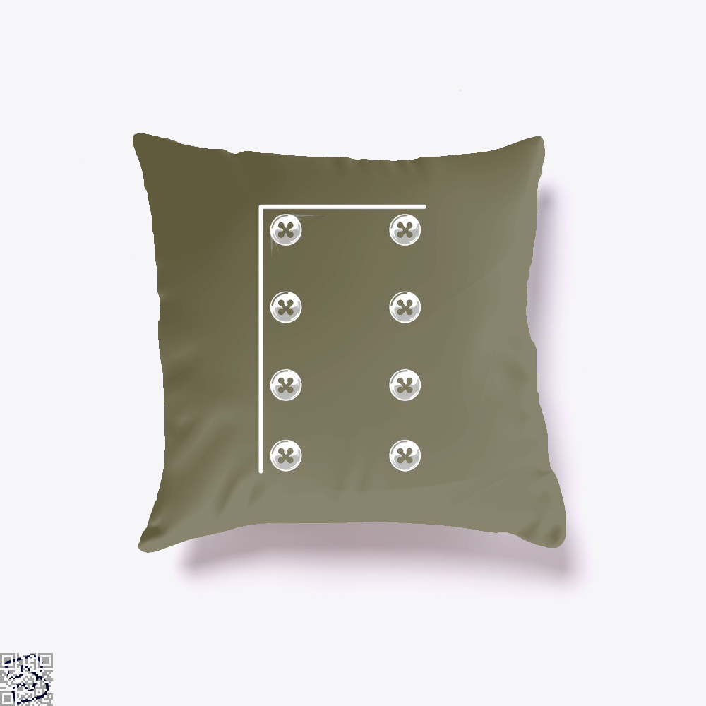 Chefs Jacket Throw Pillow Cover - Brown / 16 X - Productgenapi
