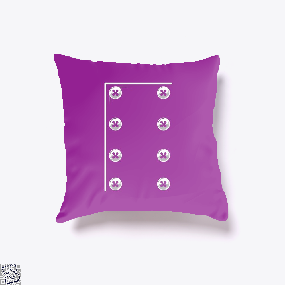 Chefs Jacket Throw Pillow Cover - Purple / 16 X - Productgenapi