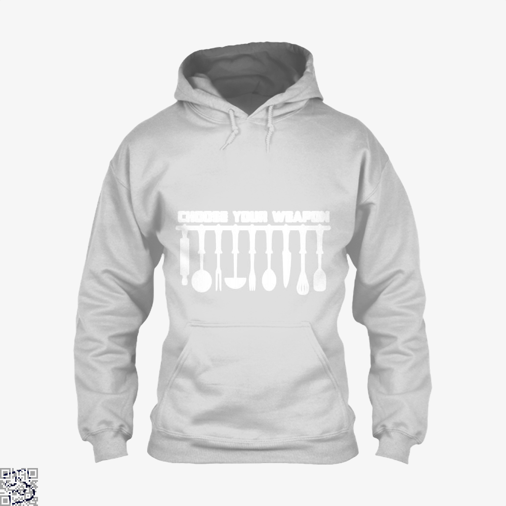 Choose Your Weapon Chefs Hoodie - White / X-Small - Productgenapi