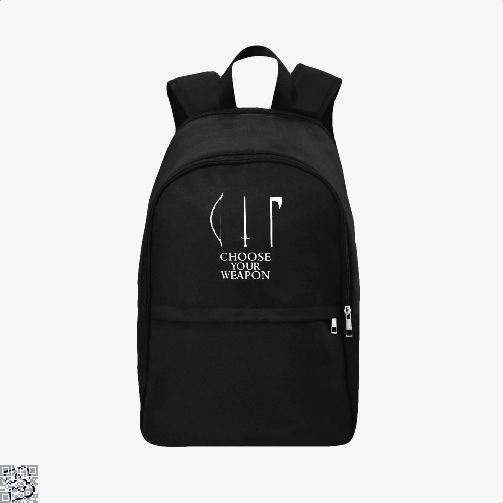 Choose Your Weapon Lord Of The Rings Backpack - Black / Adult - Productgenapi