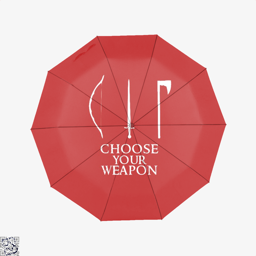 Choose Your Weapon Lord Of The Rings Umbrella - Red - Productgenapi
