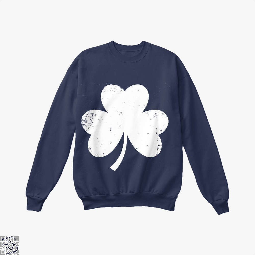 Clover Trefoil Saint Patricks Day Crew Neck Sweatshirt - Blue / X-Small - Productgenjpg