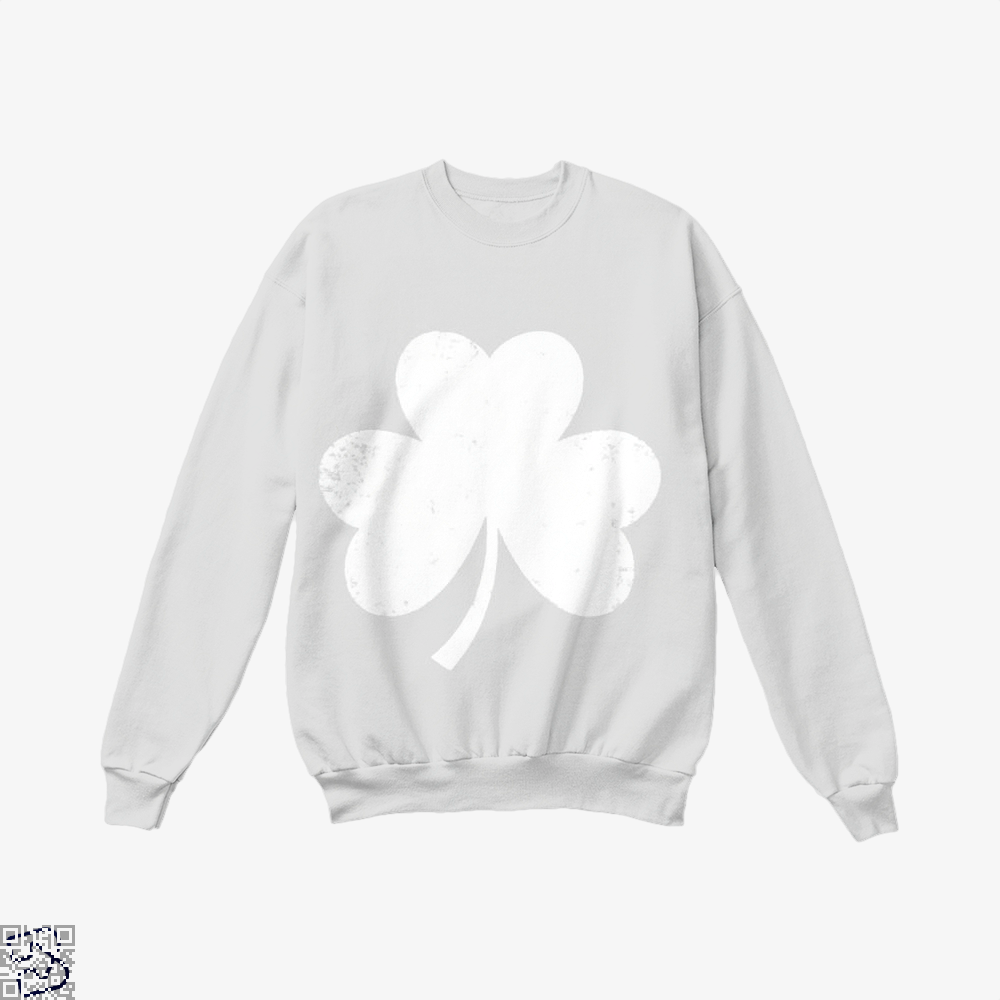 Clover Trefoil Saint Patricks Day Crew Neck Sweatshirt - White / X-Small - Productgenjpg