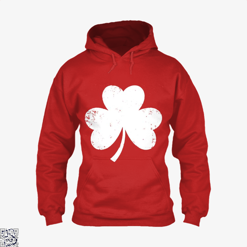 Clover Trefoil Saint Patricks Day Hoodie - Red / X-Small - Productgenjpg
