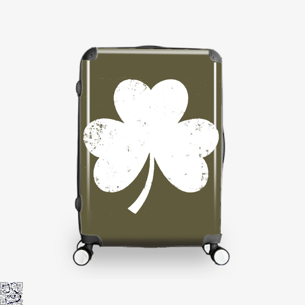 Clover Trefoil Saint Patricks Day Suitcase - Brown / 16 - Productgenjpg