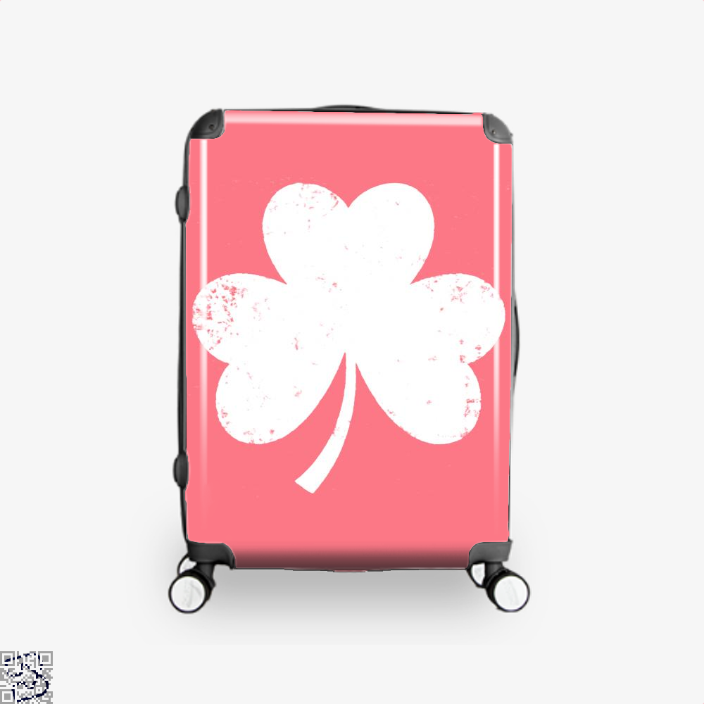 Clover Trefoil Saint Patricks Day Suitcase - Pink / 16 - Productgenjpg