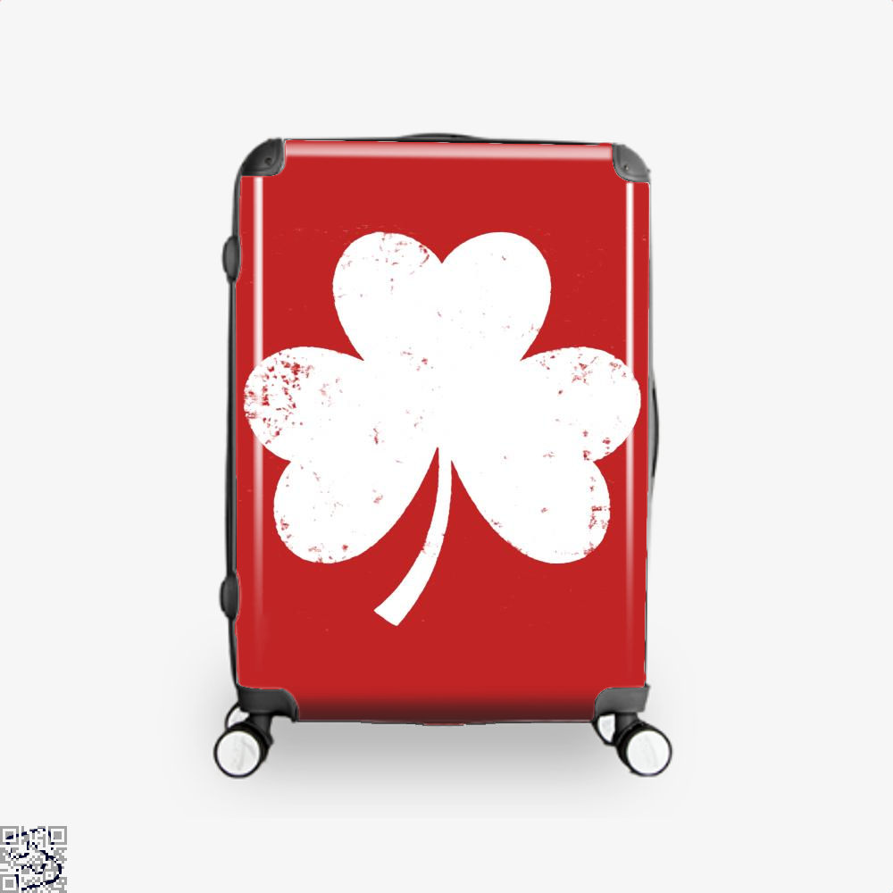 Clover Trefoil Saint Patricks Day Suitcase - Red / 16 - Productgenjpg