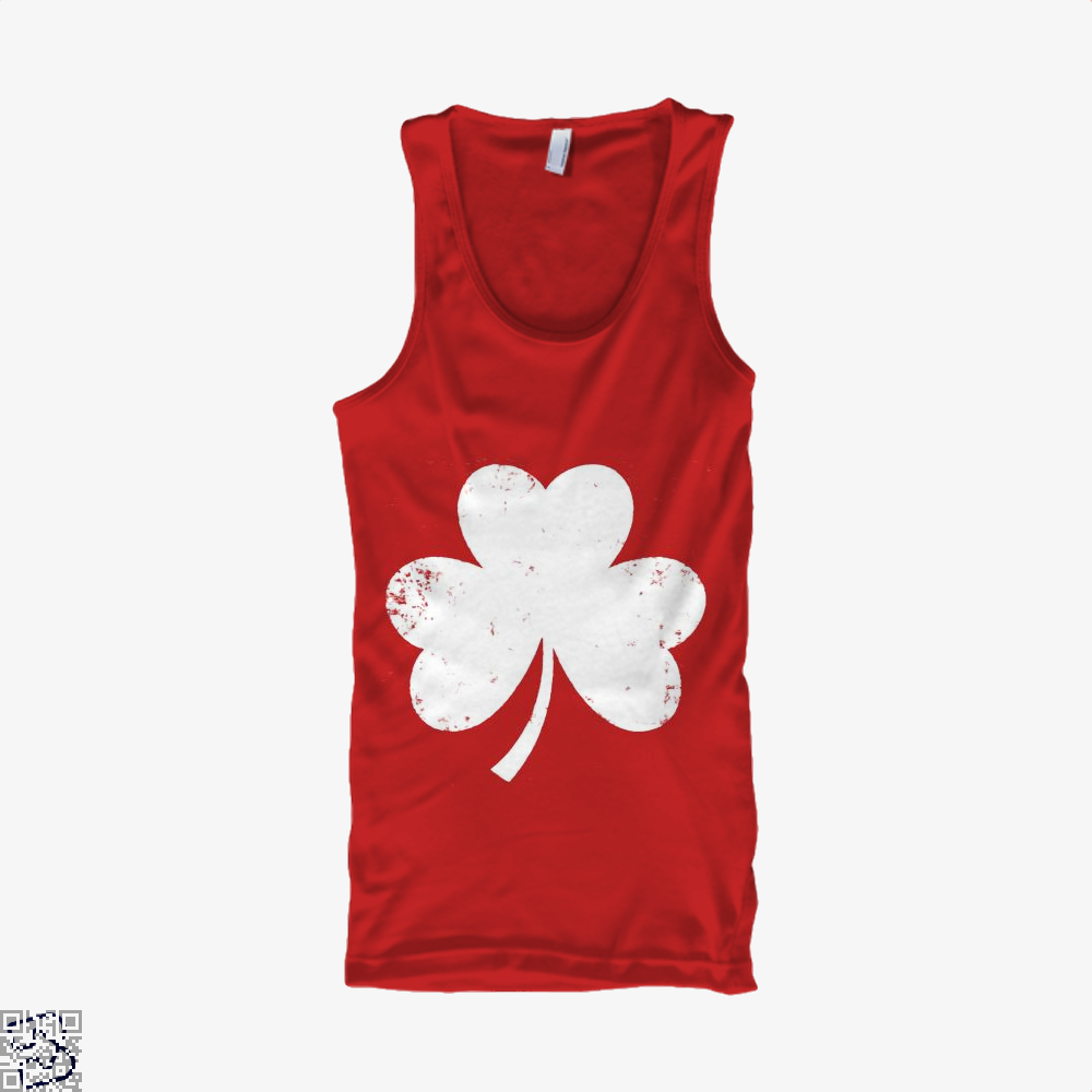 Clover Trefoil Saint Patricks Day Tank Top - Women / Red / X-Small - Productgenjpg