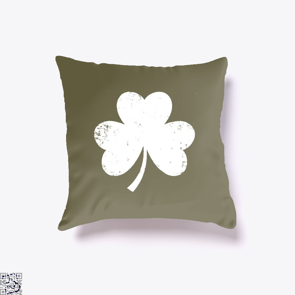 Clover Trefoil Saint Patricks Day Throw Pillow Cover - Brown / 16 X - Productgenjpg
