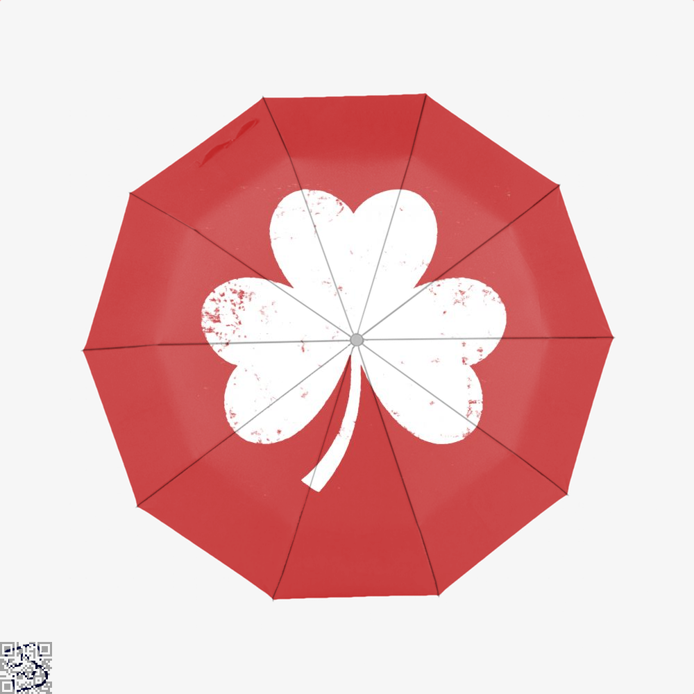 Clover Trefoil Saint Patricks Day Umbrella - Red - Productgenjpg