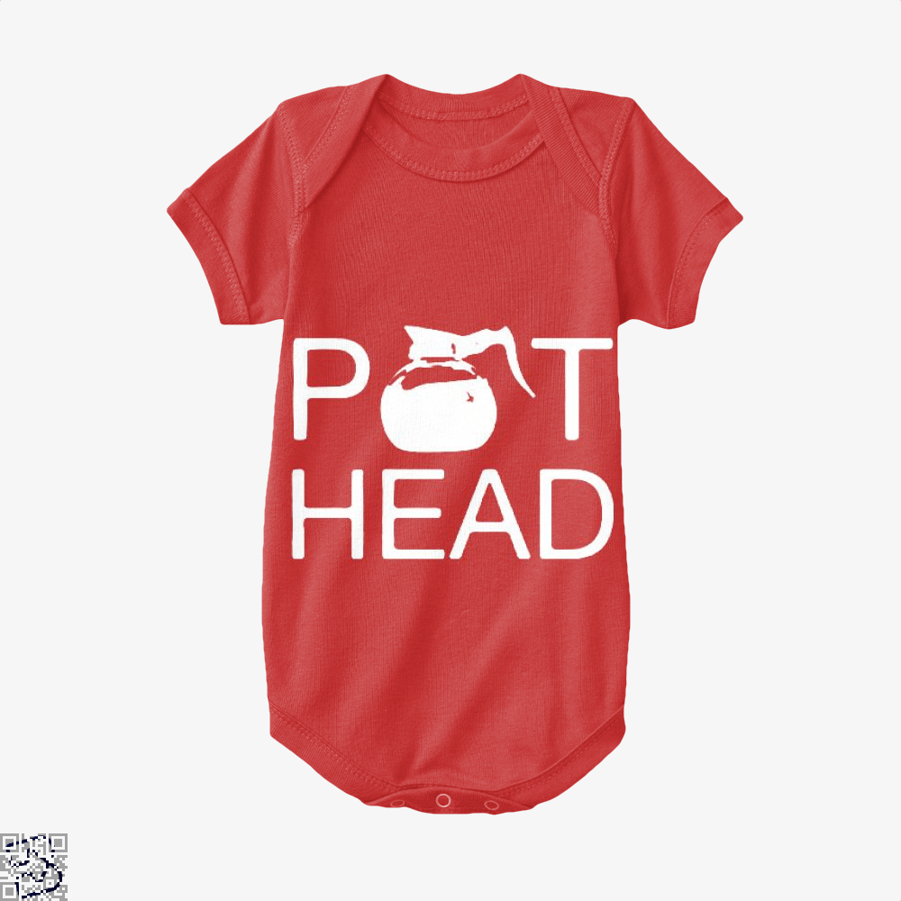 Coffee Pot Head Baby Onesie - Red / 0-3 Months - Productgenapi