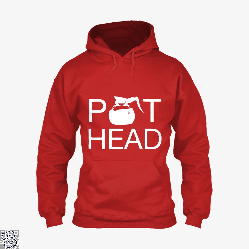 Coffee Pot Head Hoodie - Red / X-Small - Productgenapi