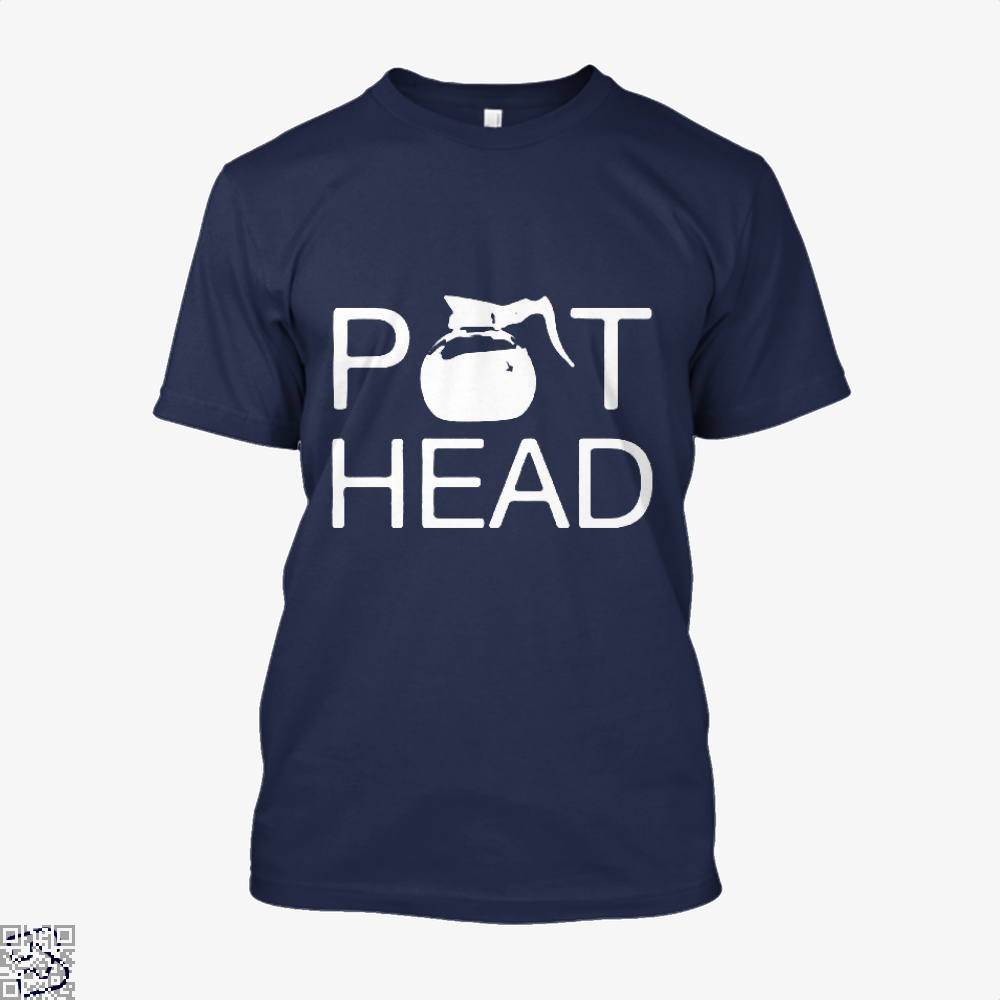 Coffee Pot Head Shirt - Men / Blue / X-Small - Productgenapi