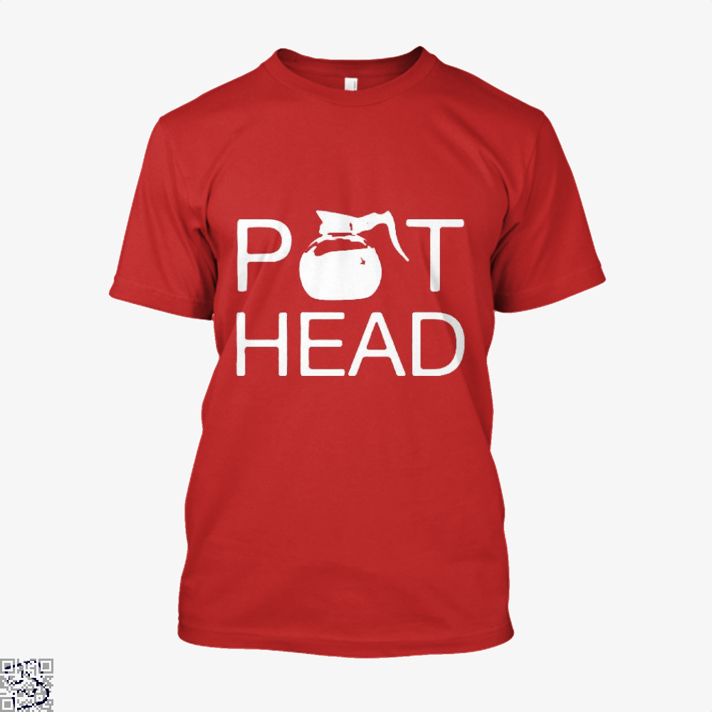Coffee Pot Head Shirt - Men / Red / X-Small - Productgenapi