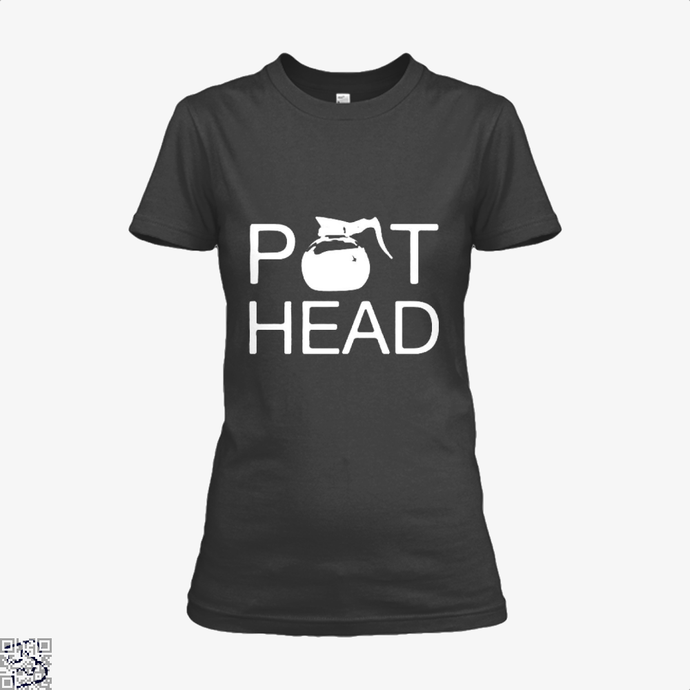 Coffee Pot Head Shirt - Women / Black / X-Small - Productgenapi