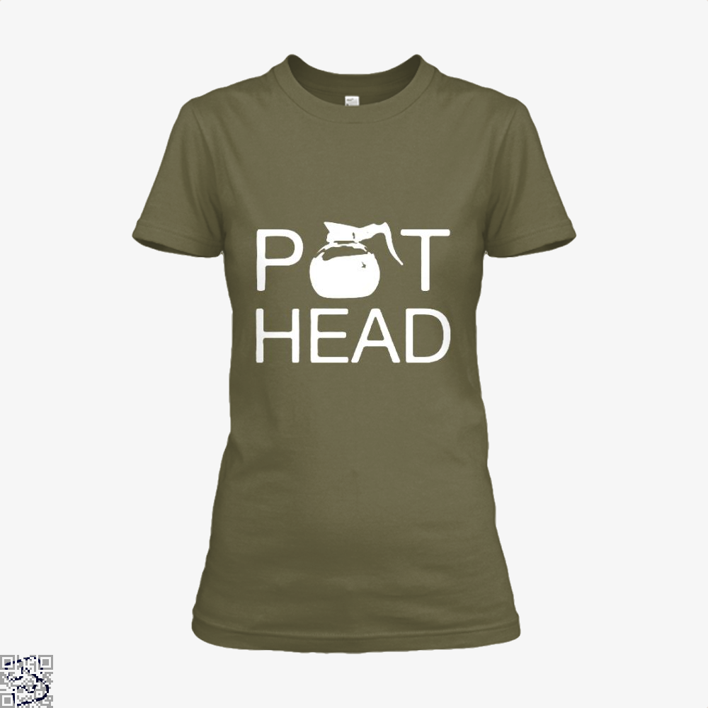 Coffee Pot Head Shirt - Women / Brown / X-Small - Productgenapi