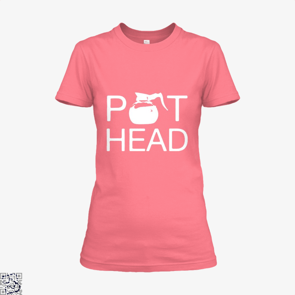 Coffee Pot Head Shirt - Women / Pink / X-Small - Productgenapi