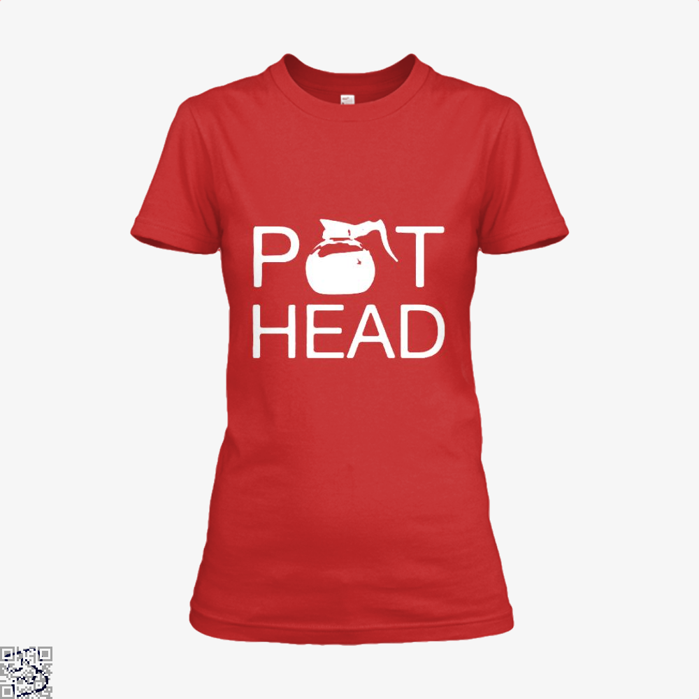 Coffee Pot Head Shirt - Women / Red / X-Small - Productgenapi