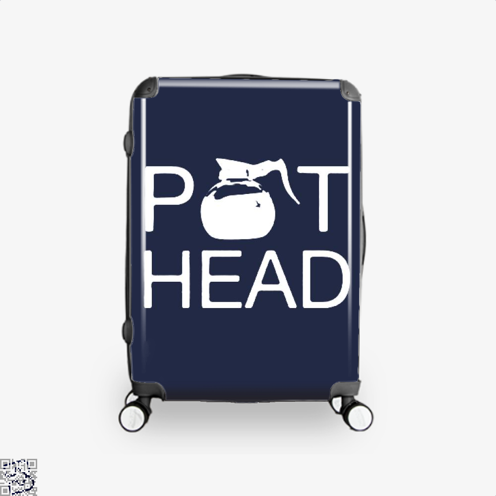 Coffee Pot Head Suitcase - Blue / 16 - Productgenapi