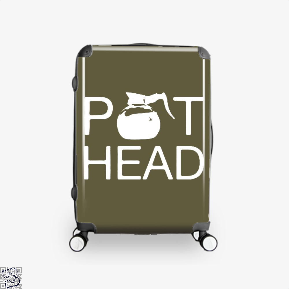 Coffee Pot Head Suitcase - Brown / 16 - Productgenapi
