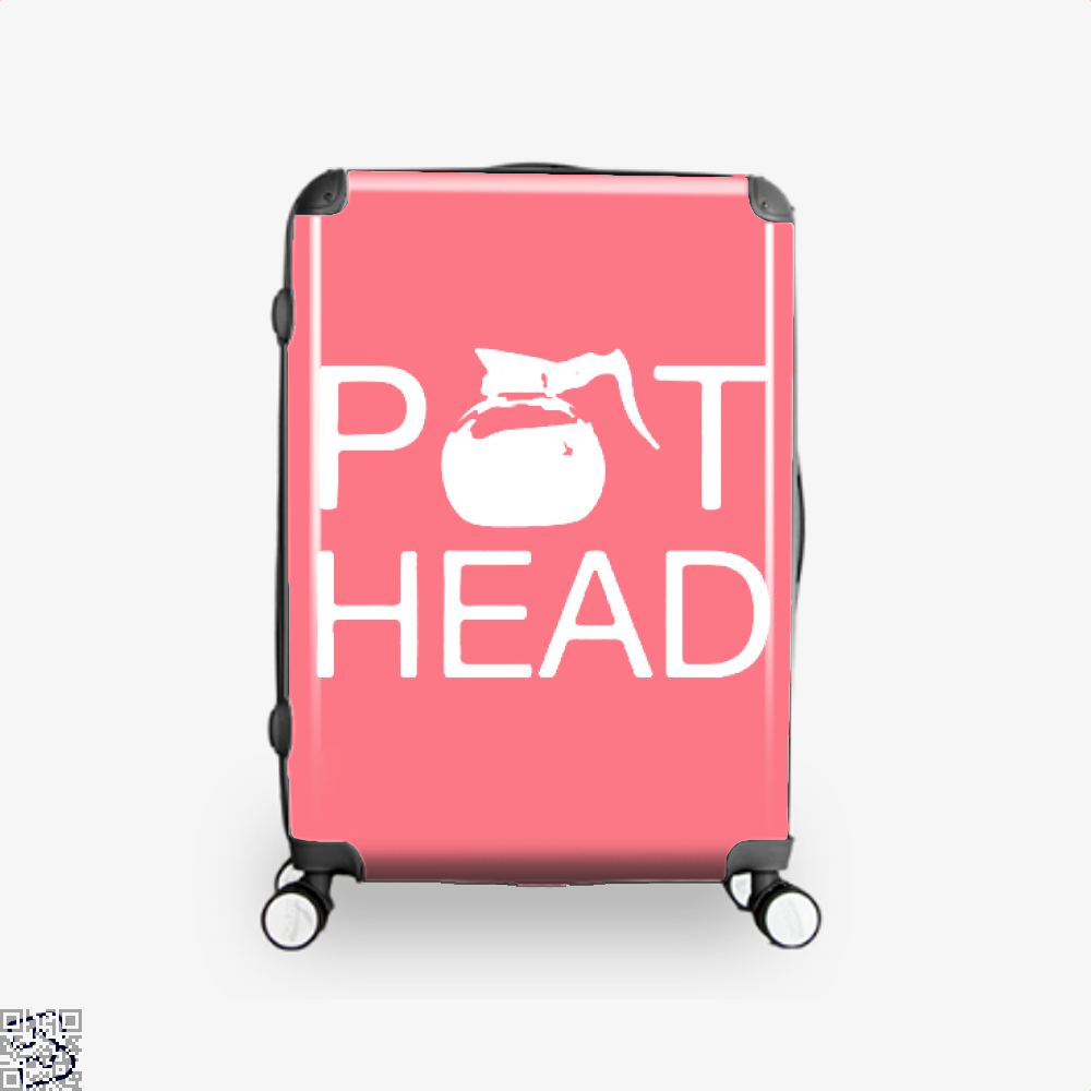 Coffee Pot Head Suitcase - Pink / 16 - Productgenapi