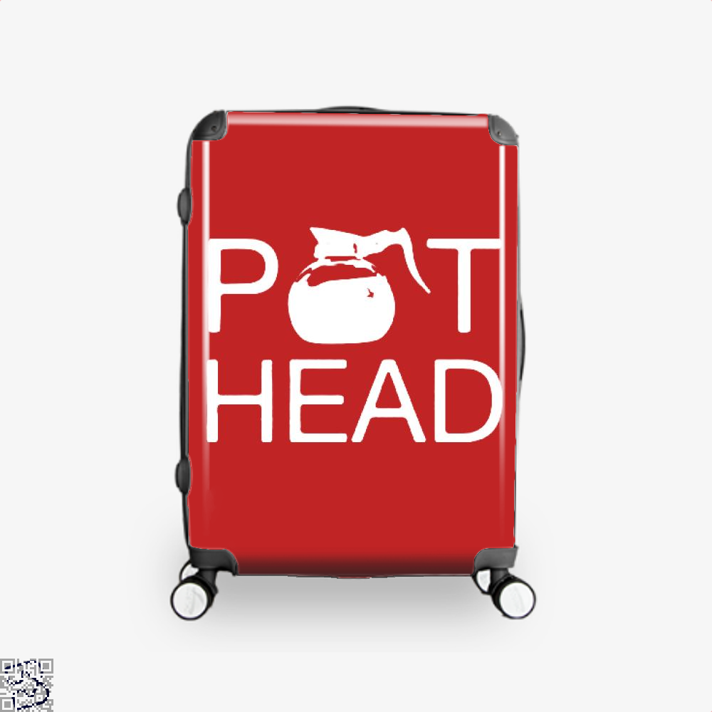 Coffee Pot Head Suitcase - Red / 16 - Productgenapi