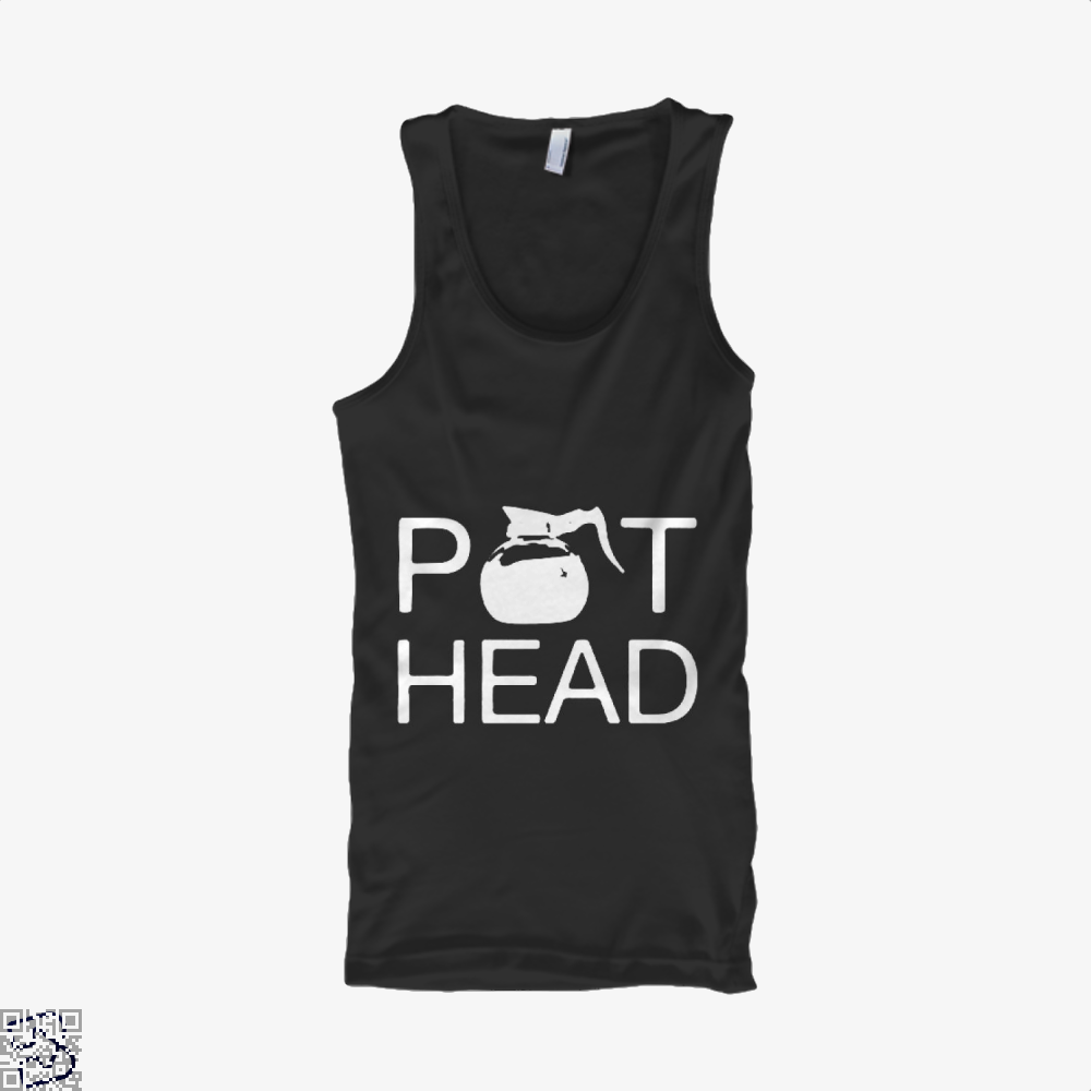 Coffee Pot Head Tank Top - Men / Black / Small - Productgenapi