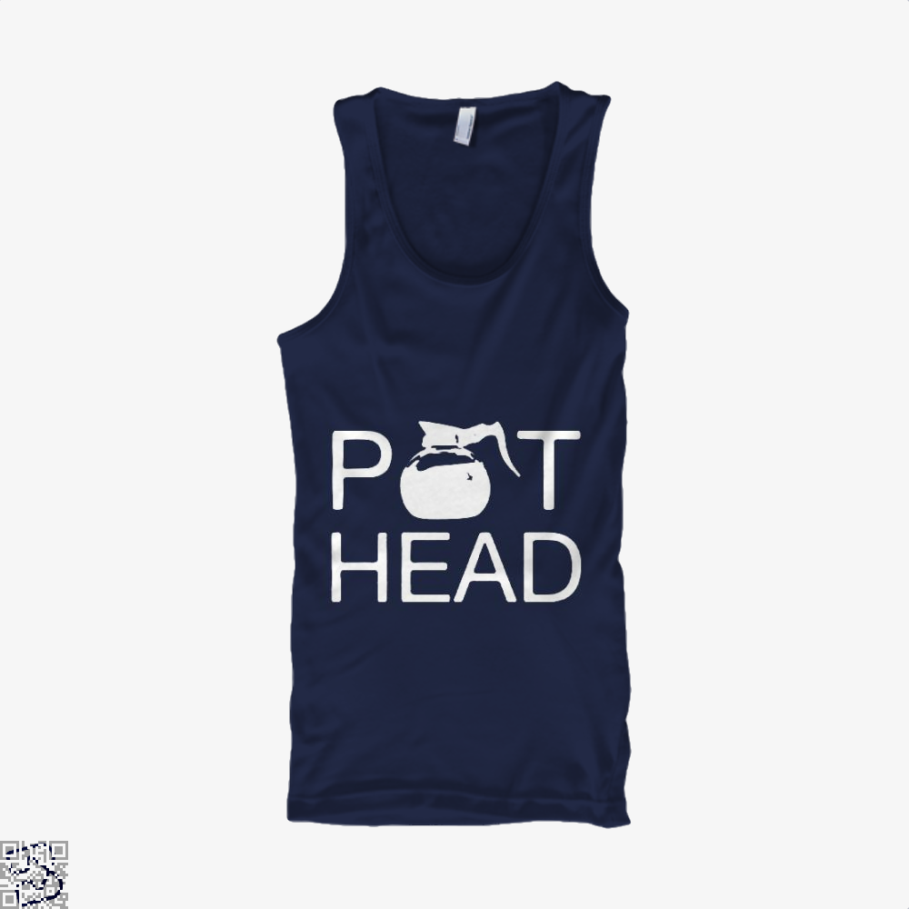 Coffee Pot Head Tank Top - Men / Blue / Small - Productgenapi